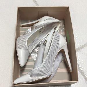 BCBG white mesh heels size 8.5